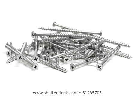 pile of four inch wood screws. Stock photo © shanemaritch