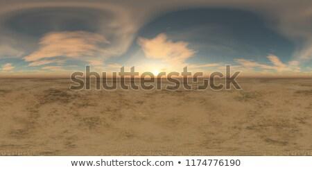 sunset landscape   3d render stock photo © elenarts