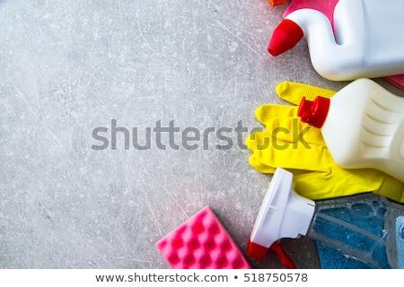 domestic colorful sponge washer for dishes stock photo © lunamarina
