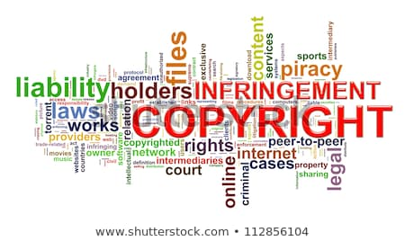 Wordcloud words tags of copyright infringement Stock photo © ribah