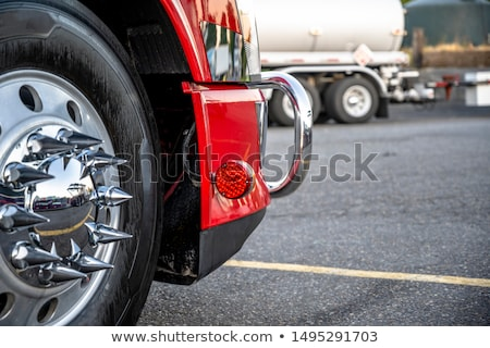 Stock photo: big chrome rims