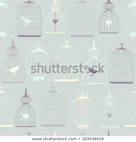 birdcage and chandelier, vector Stock photo © beaubelle