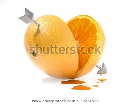 Jobb fél egyéb narancs szeretet kettő Stock fotó © arquiplay77