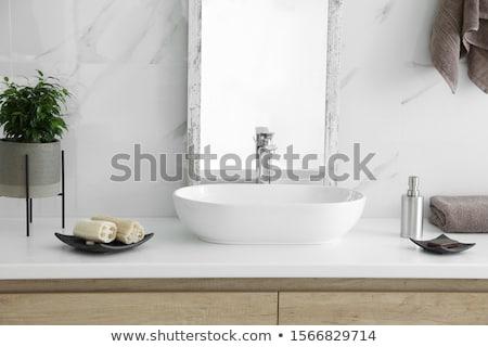 Elegant washbasin in bathroom Stock photo © stevanovicigor