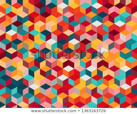 seamless hexagonal multicolored pattern Stock photo © creative_stock
