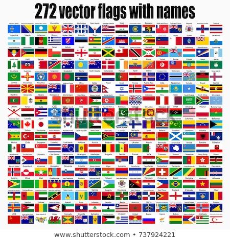 flag icon web button croatia Stock photo © mizar_21984