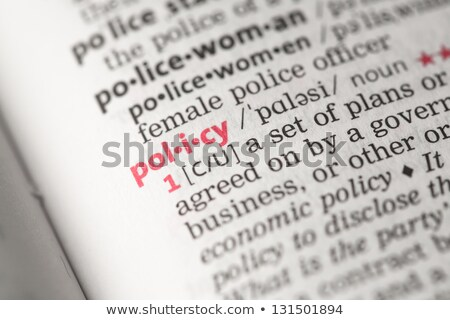 Policy  Dictionary Definition Stock photo © chris2766