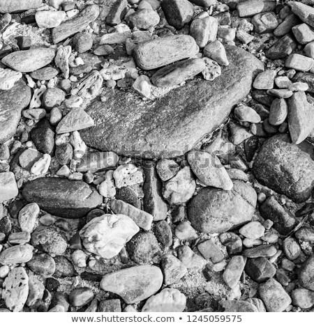 Gyönyörű kövek tengerpart érdekes harmonikus kövek Stock fotó © meinzahn