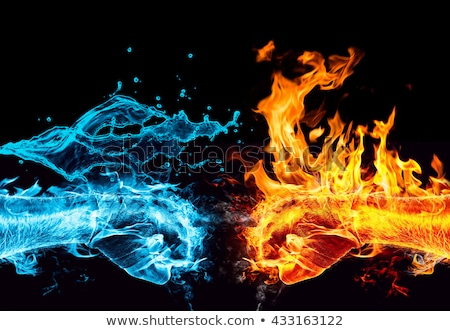 fire and water Stock photo © djdarkflower