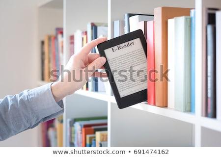 ebook · dispositivo · cubrir · aislado · blanco · libro - foto stock © simpson33