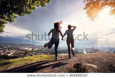 Escapar ciudad imagen formato edificio paisaje Foto stock © Miloushek