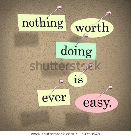 Semmi könnyű érték háttér levél poszter Stock fotó © maxmitzu