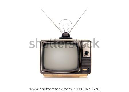 Tv schermo lcd monitor design blu Foto d'archivio © Ava