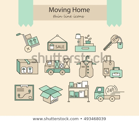 Moving House with Forklift Stock photo © eyeidea