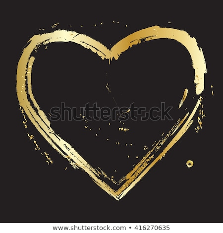 Background with golden hearts on black for web Stock photo © shawlinmohd