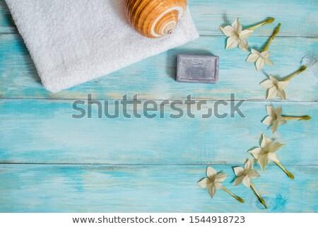 spa · mer · sable · shell · bougies - photo stock © fotoaloja
