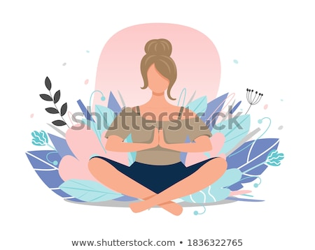 Lotus stock photos stock images and vectors stockfresh yoga pose and lotus flower stock photo adrenalina mightylinksfo