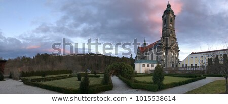 Abbaye bâtiment église pont rivière architecture Photo stock © LianeM