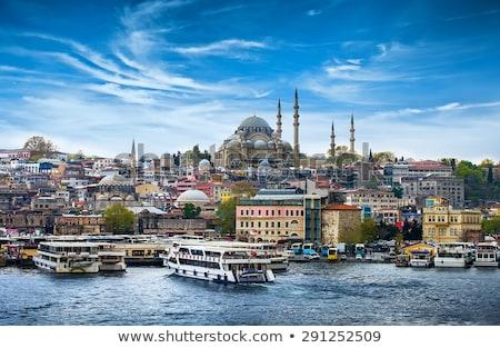 Isztambul Törökország mecset férfiak iszlám áll Stock fotó © emirkoo