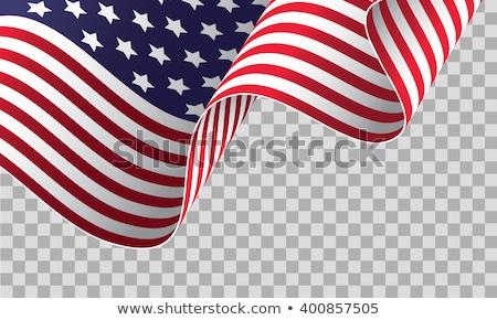 bandeira · americana · dia · celebração · onda · vetor · fundo - foto stock © bharat