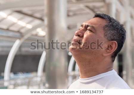 Senior man crying in grief Stock photo © bmonteny