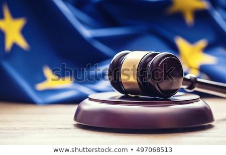 Сток-фото: Евросоюз · прав · декоративный · Весы · правосудия · книга