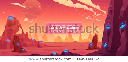Alien Rock with at sky background Stock photo © ankarb