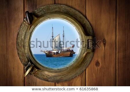 Alten Fenster Metall Motiv dekorativ aufgegeben Stock foto © sirylok