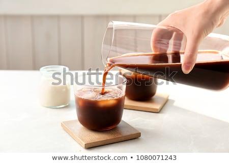 Jarra café negro aislado blanco beber desayuno Foto stock © siavramova