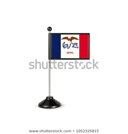 Айова небольшой флаг карта избирательный подход фон Сток-фото © tashatuvango