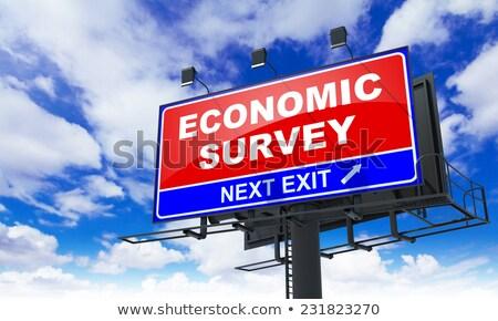 Economic Survey on Red Billboard. Stock photo © tashatuvango