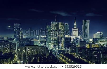 óváros · Varsó · sziluett · Lengyelország · város · otthon - stock fotó © filipw
