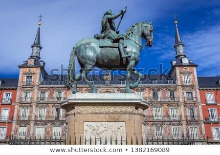 LA · híres · Madrid · Spanyolország · épület · fal - stock fotó © kasto