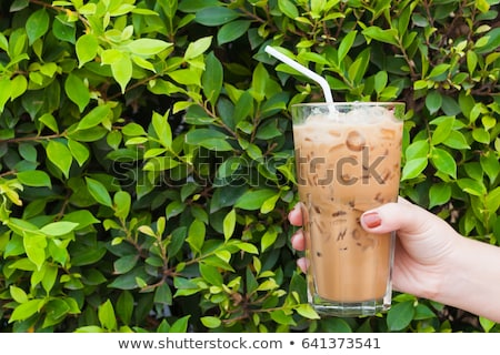 Ice green tea and caffe mocha Stock photo © nalinratphi