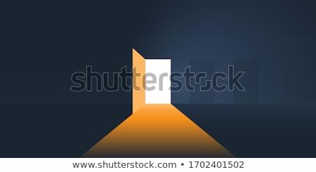 Abrir a porta luz poder esperança símbolo Foto stock © Lightsource