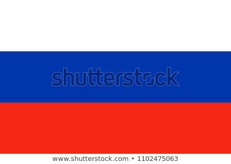Orosz zászló integet izolált fehér Amerika Stock fotó © oorka
