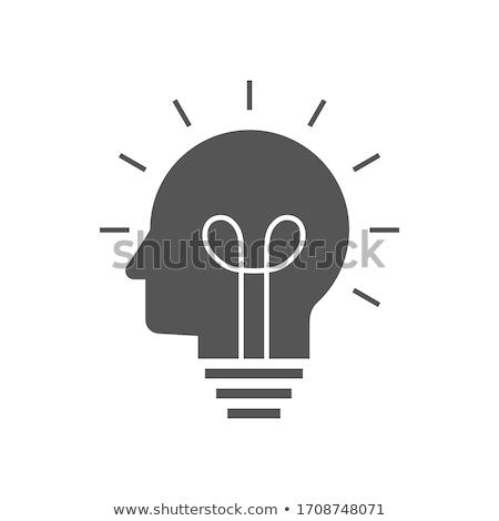 thinking head icons stock photo © -talex-