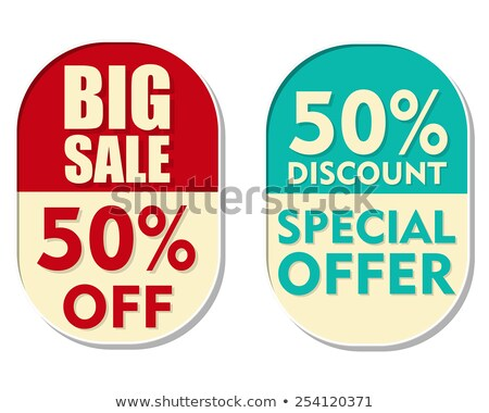 50 percent off discount, big sale and special offer, two ellipti Stock photo © marinini