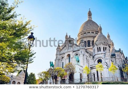 Montmartre bazilika Paris kalp İsa Stok fotoğraf © joyr
