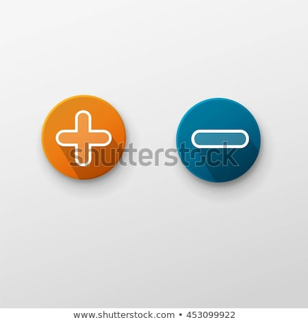 Moins signe bleu vecteur icône design Photo stock © rizwanali3d