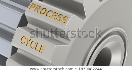 Continuous Production on the Metal Gears. Stock photo © tashatuvango