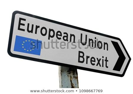 european question on highway signpost stock photo © tashatuvango