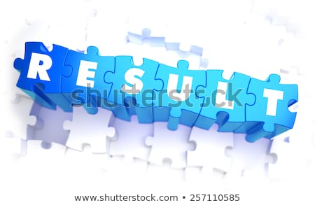 Output - Word in Blue Color on Volume  Puzzle. Stock photo © tashatuvango