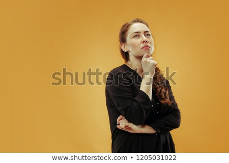thoughtful and beautiful woman, remember something Stock photo © alexandrenunes