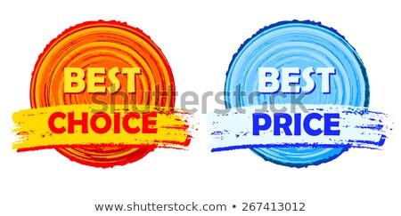 Beste prijs oranje Blauw Stockfoto © marinini