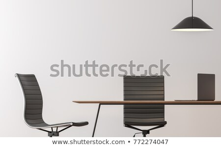 Conference table and black office chairs. Cropped image Stock photo © cherezoff