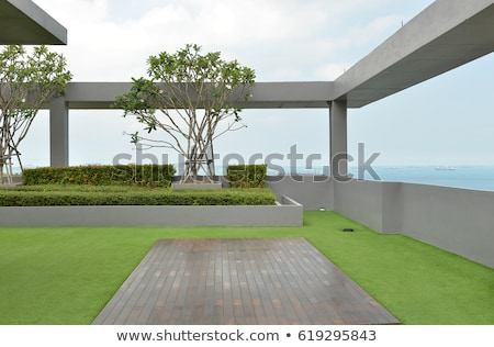Herbe jardin architecture extérieur image design Photo stock © MichalLudwiczak