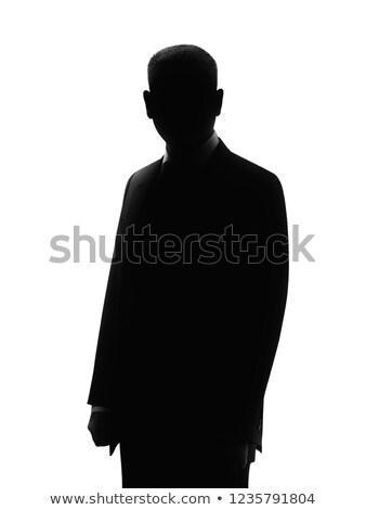 desconhecido · masculino · silhueta · vetor · arte · ilustração - foto stock © vector1st