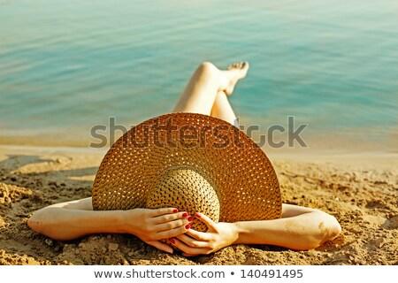 Kadın plaj yaz portre şık bayan Stok fotoğraf © kasto