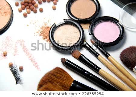 make up room and mix of brushes stock photo © tannjuska